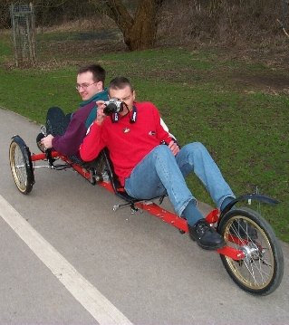 That's me on the front of my home-built tandem